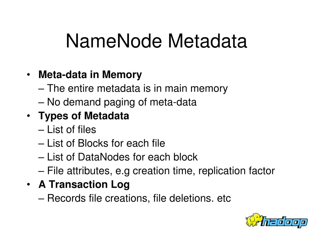 NameNode Metadata