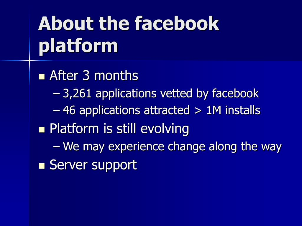 About the facebook platform