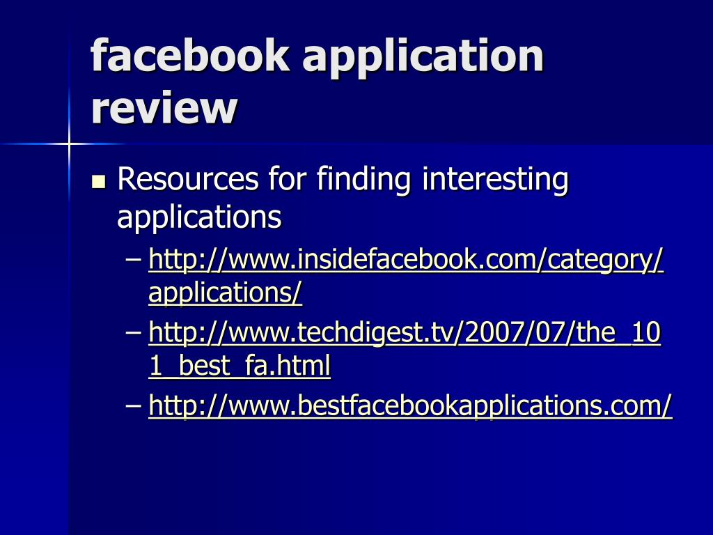 facebook application review