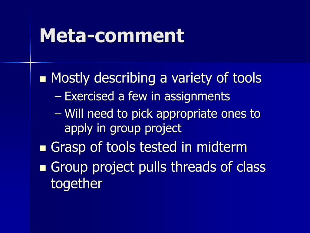 Meta-comment