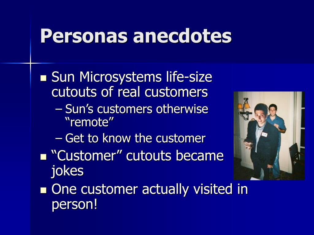 Personas anecdotes