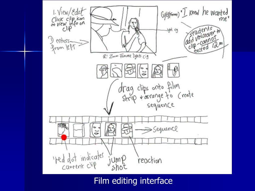 Film editing interface