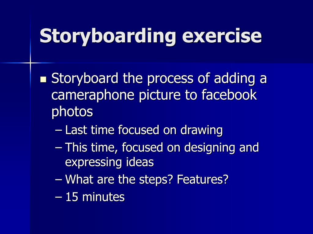 Storyboarding exercise