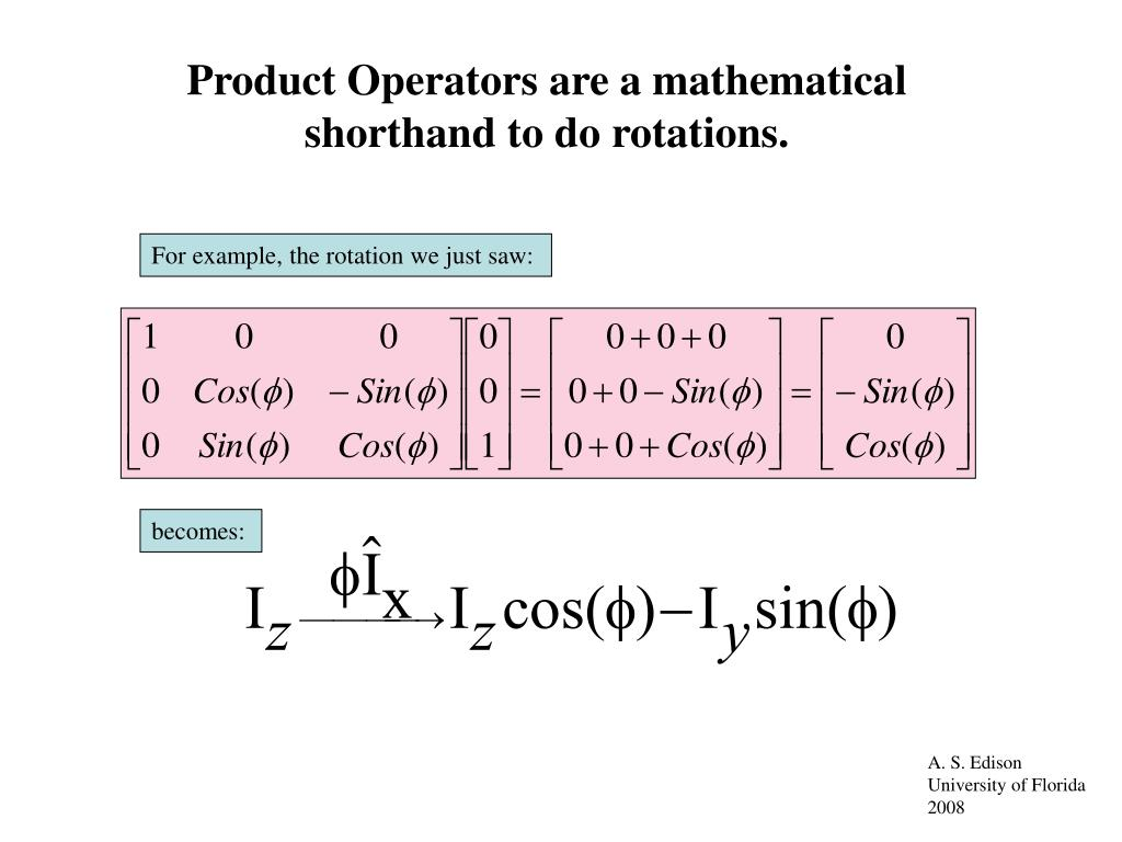 Product Operators are a mathematical shorthand to do rotations.