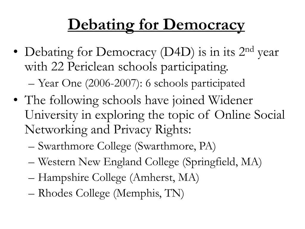 Debating for Democracy