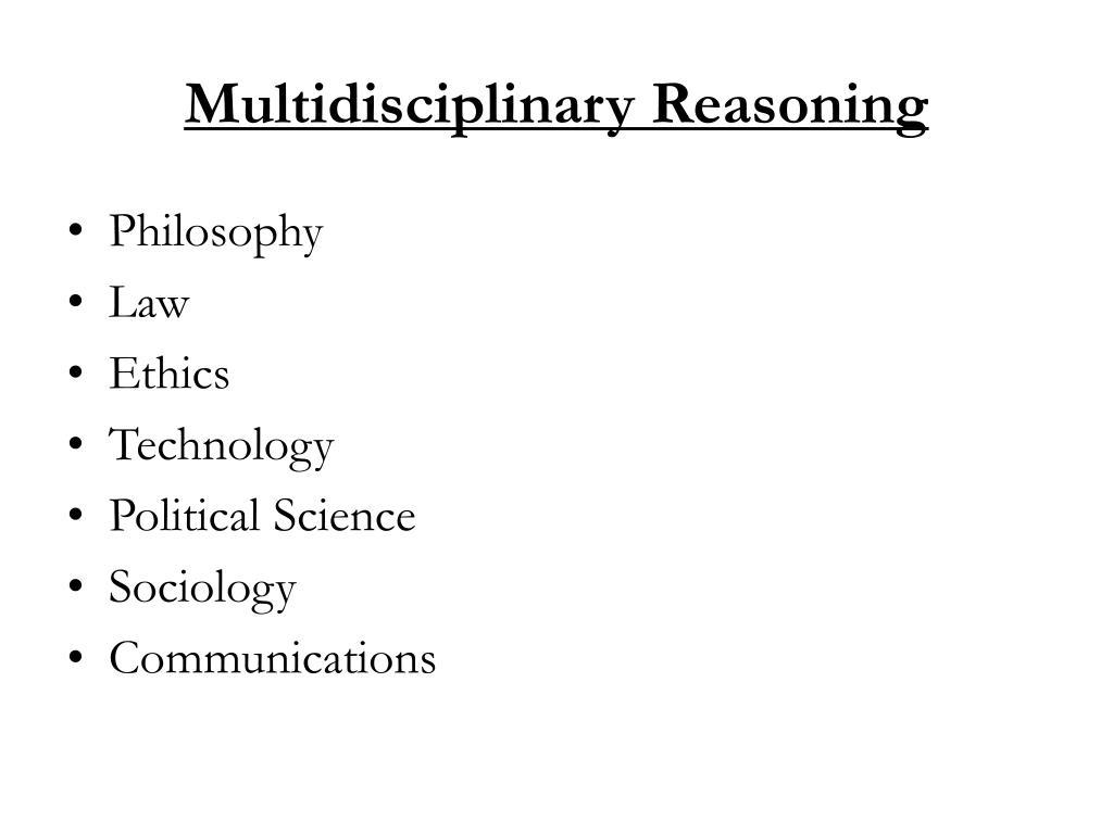 Multidisciplinary Reasoning