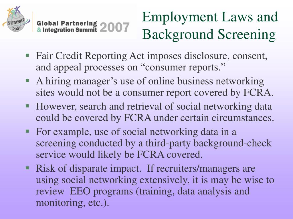 Employment Laws and Background Screening