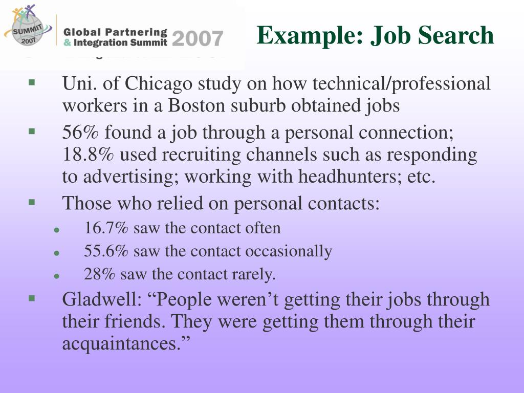 Example: Job Search