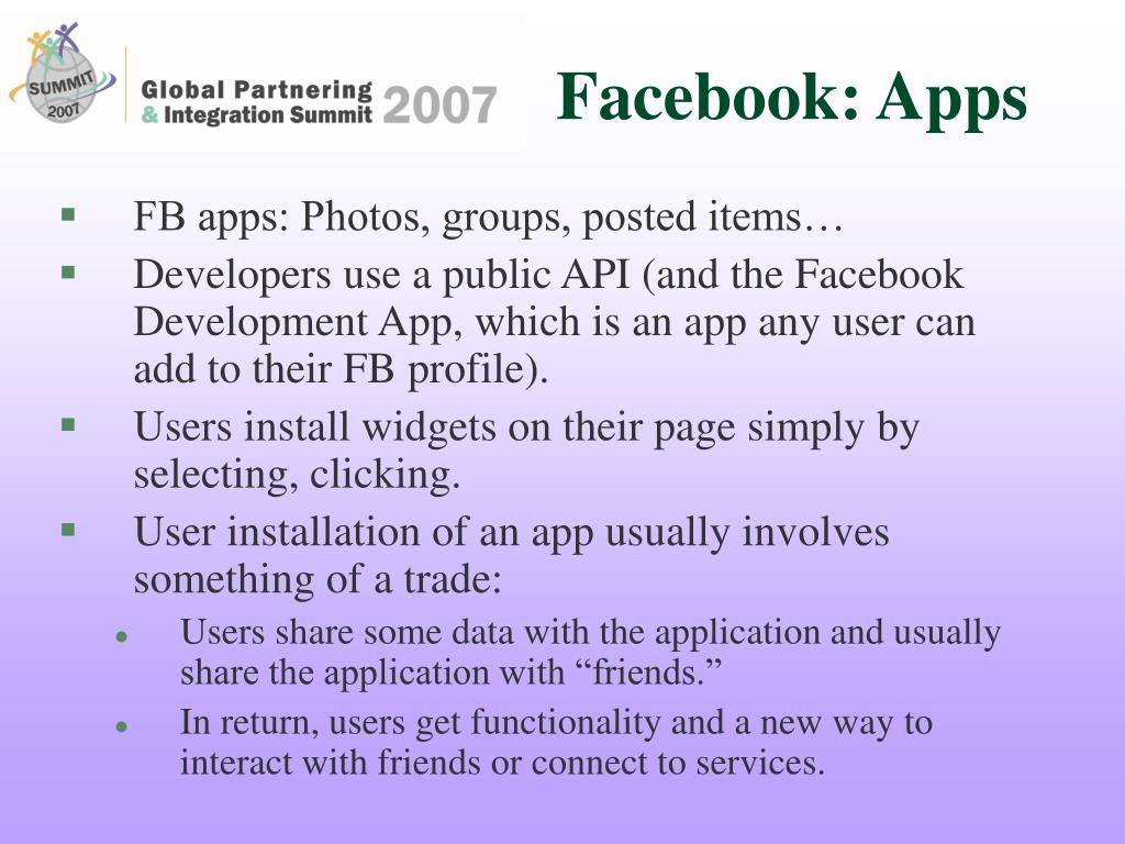 Facebook: Apps