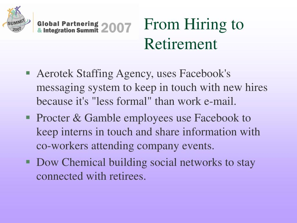 From Hiring to Retirement