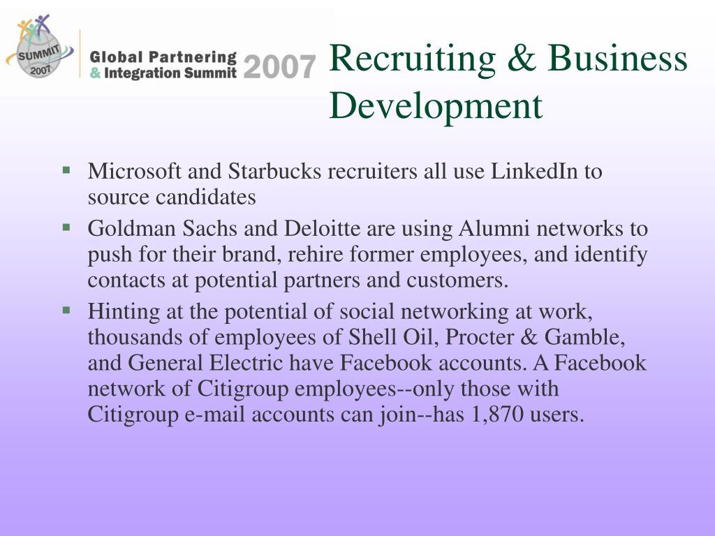 Recruiting & Business Development
