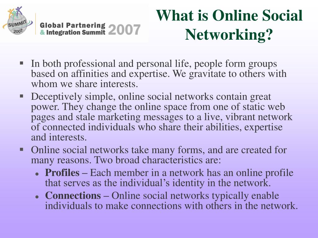 What is Online Social Networking?
