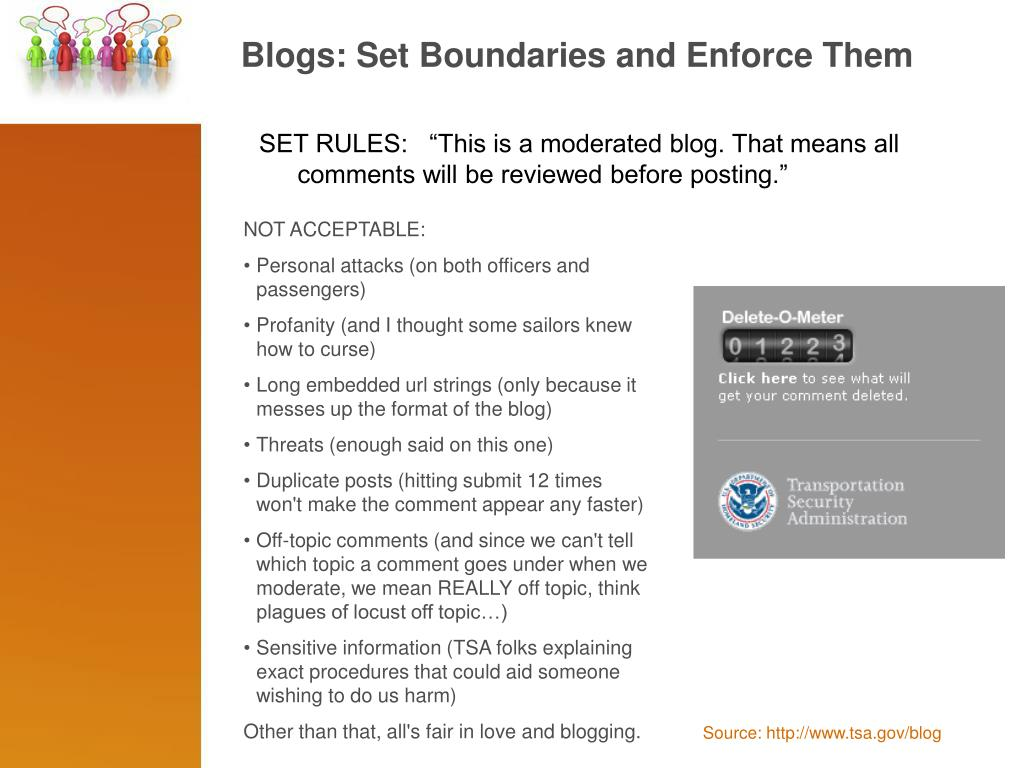 Blogs: Set Boundaries and Enforce Them