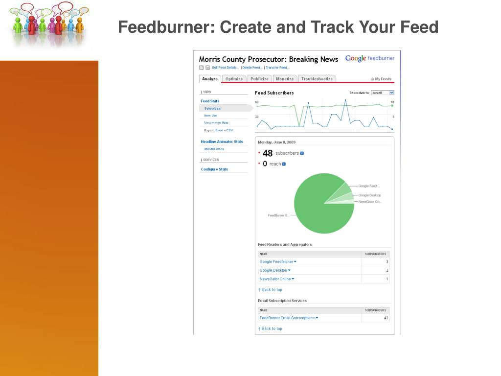 Feedburner: Create and Track Your Feed
