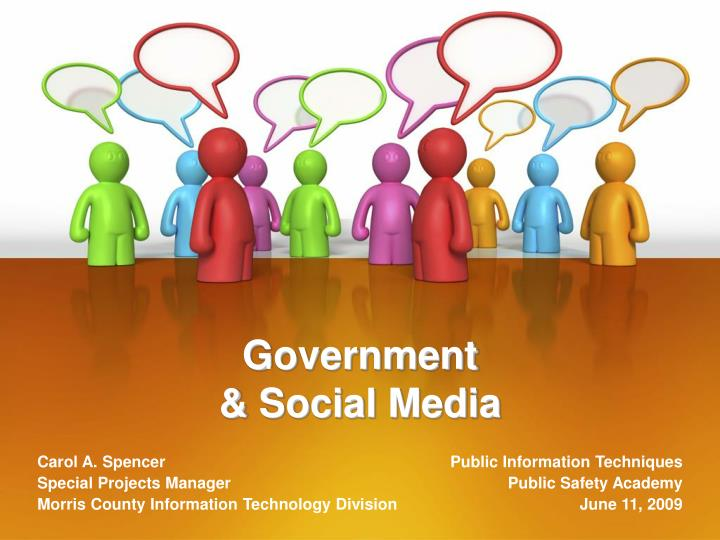 Government social media
