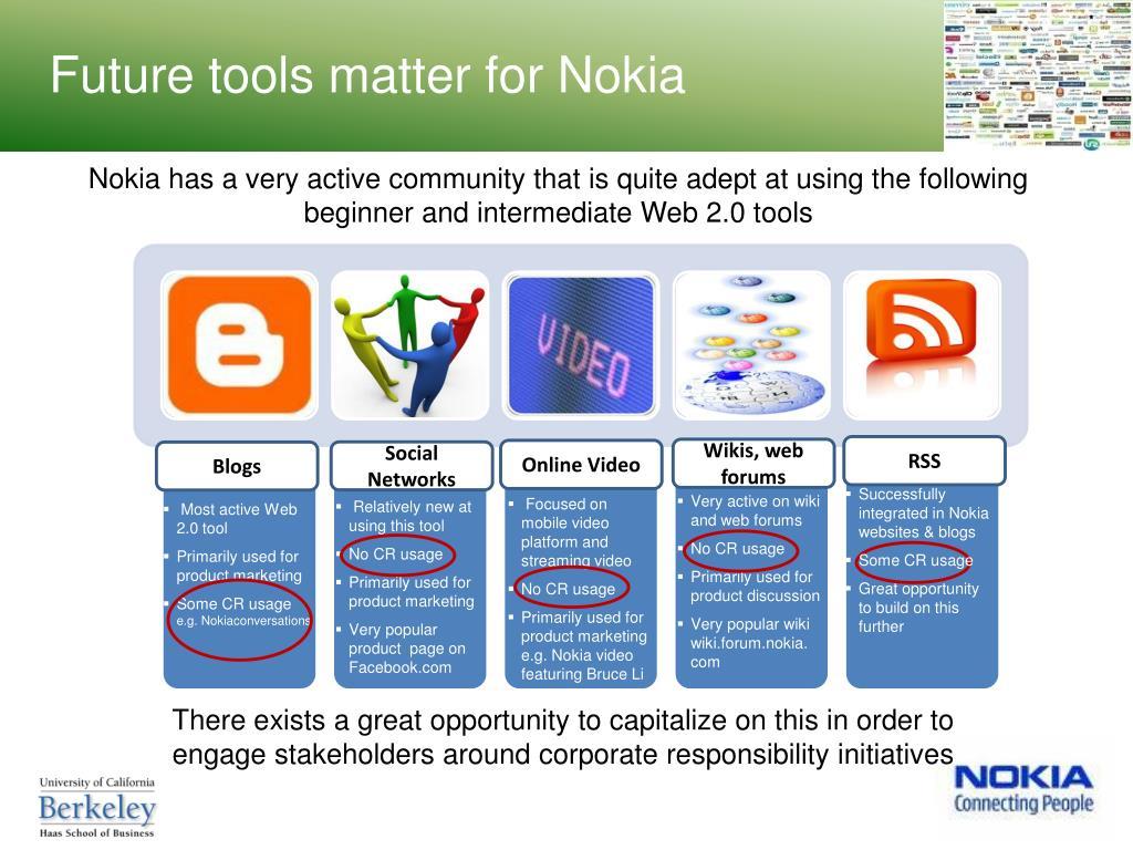 Future tools matter for Nokia