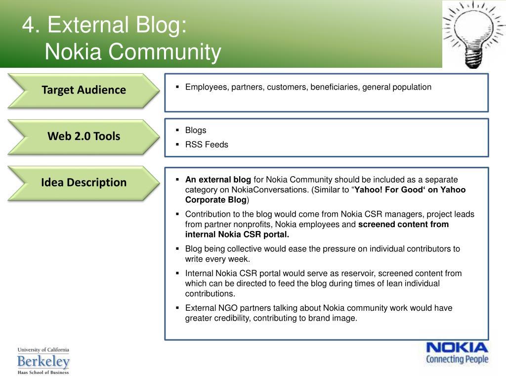 4. External Blog: