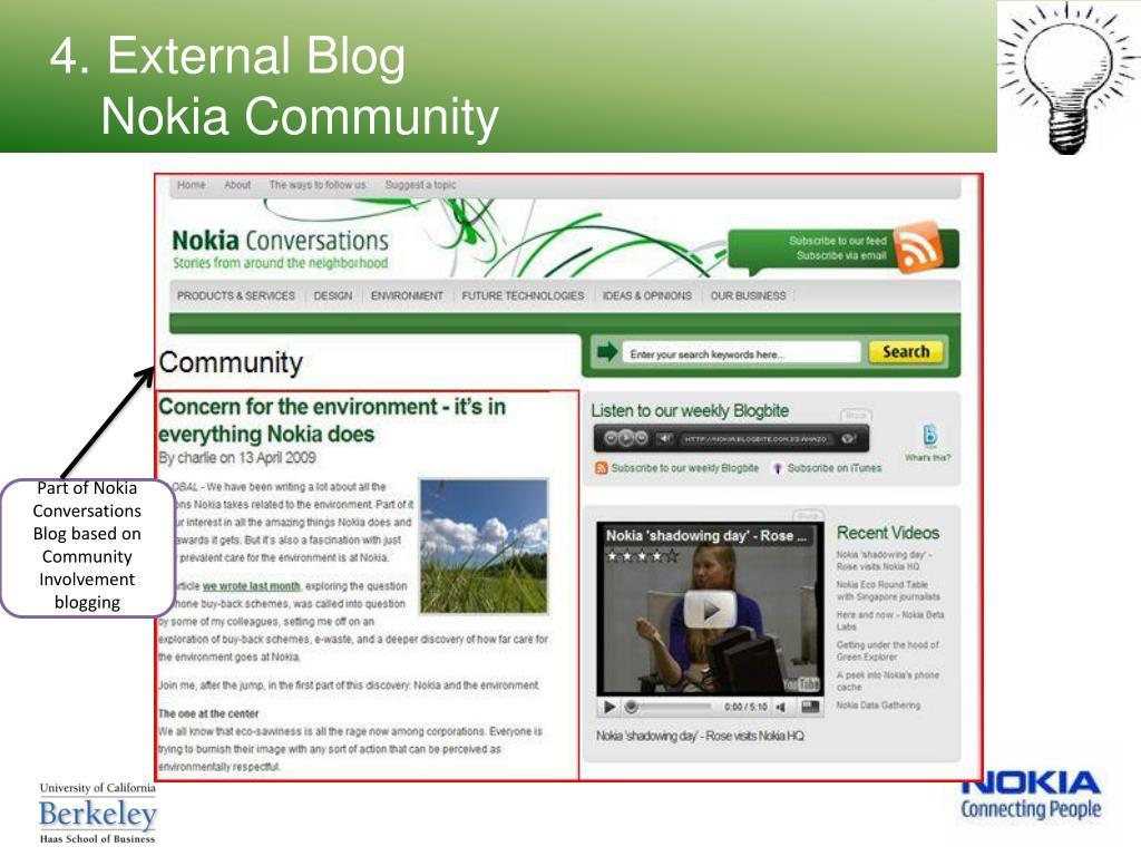 4. External Blog