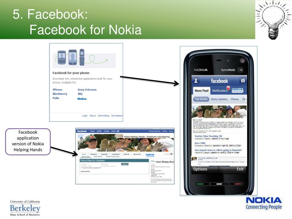 5. Facebook: