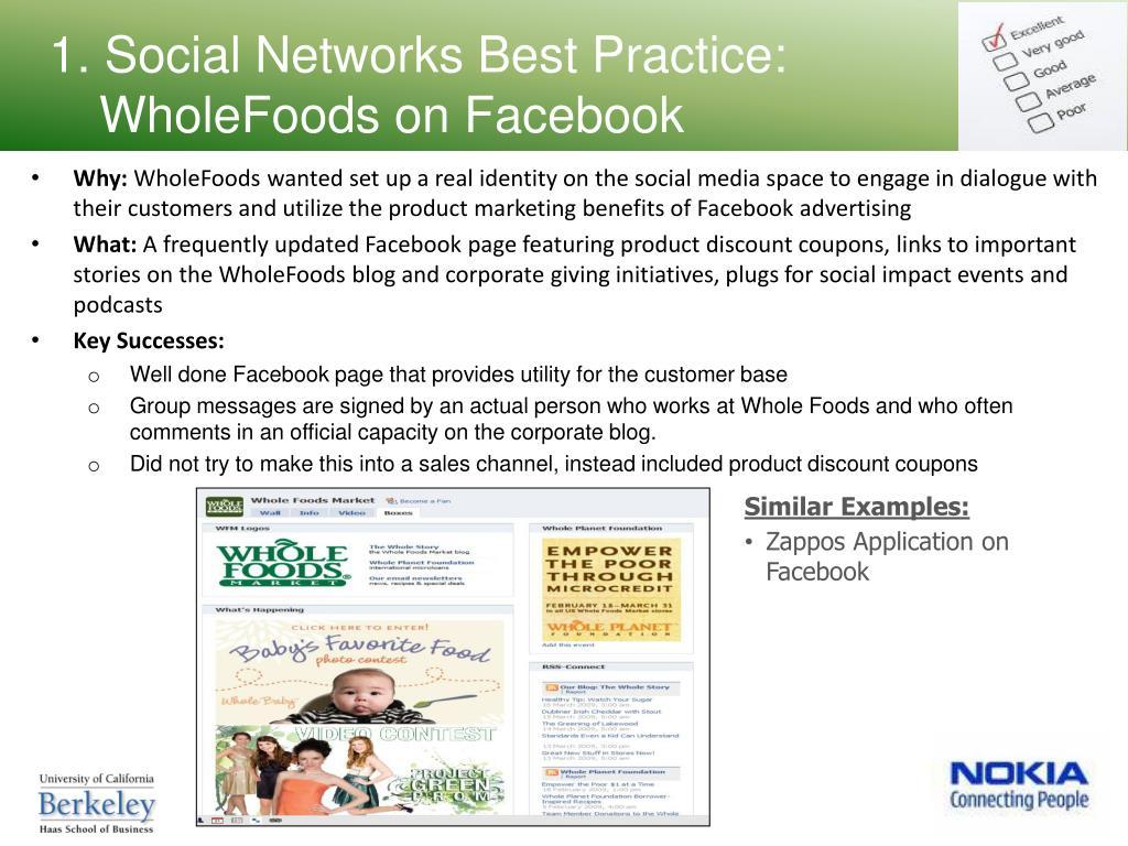 1. Social Networks Best Practice: