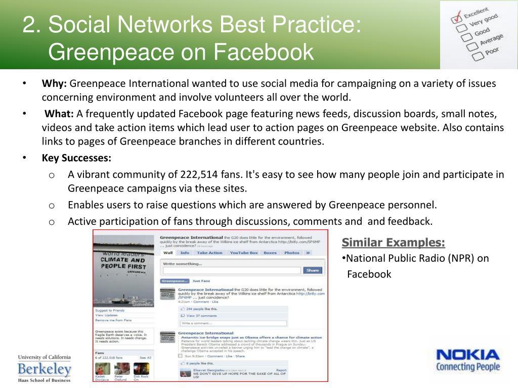 2. Social Networks Best Practice: