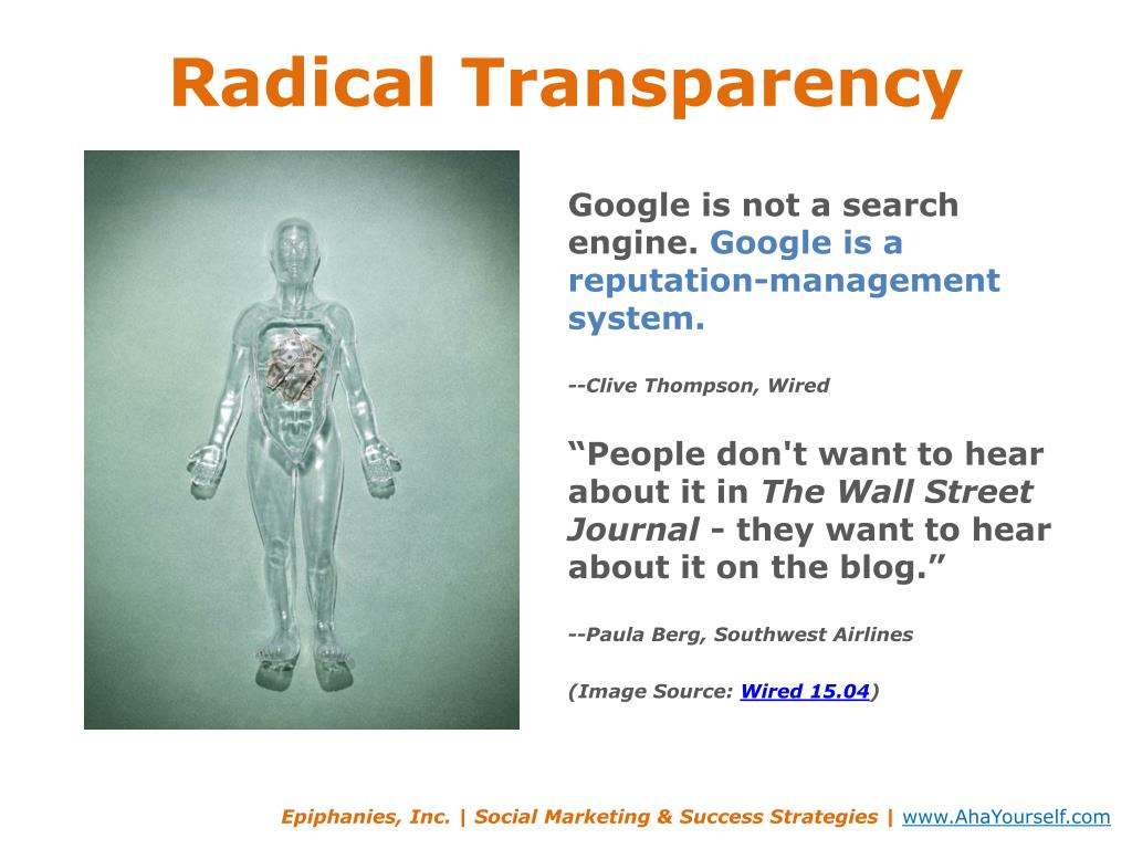 Radical Transparency