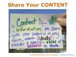 share your content