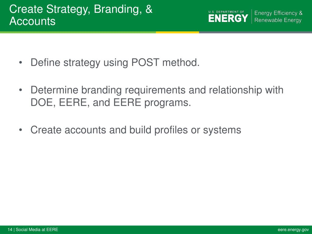 Create Strategy, Branding, & Accounts