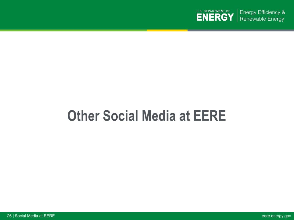 Other Social Media at EERE