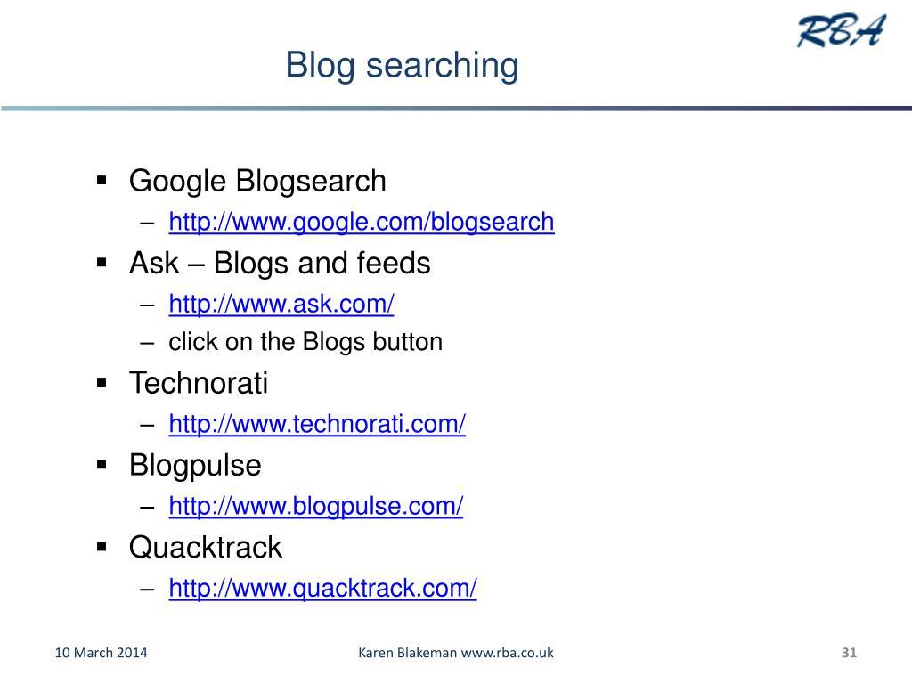 Blog searching