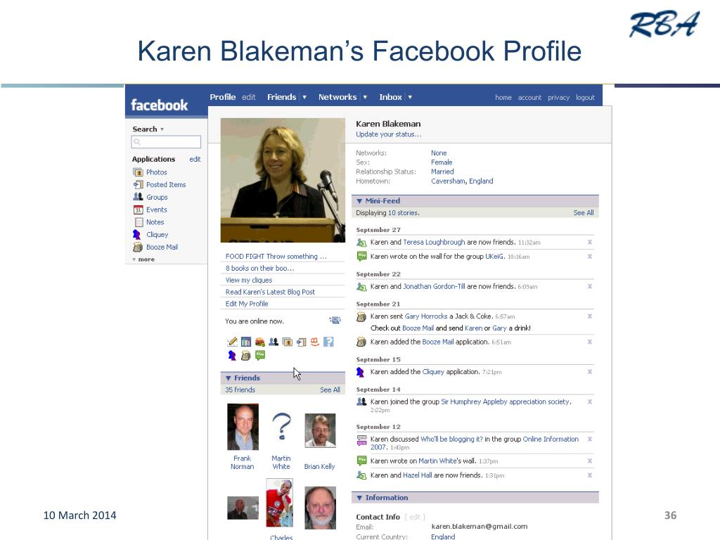 Karen Blakeman's Facebook Profile