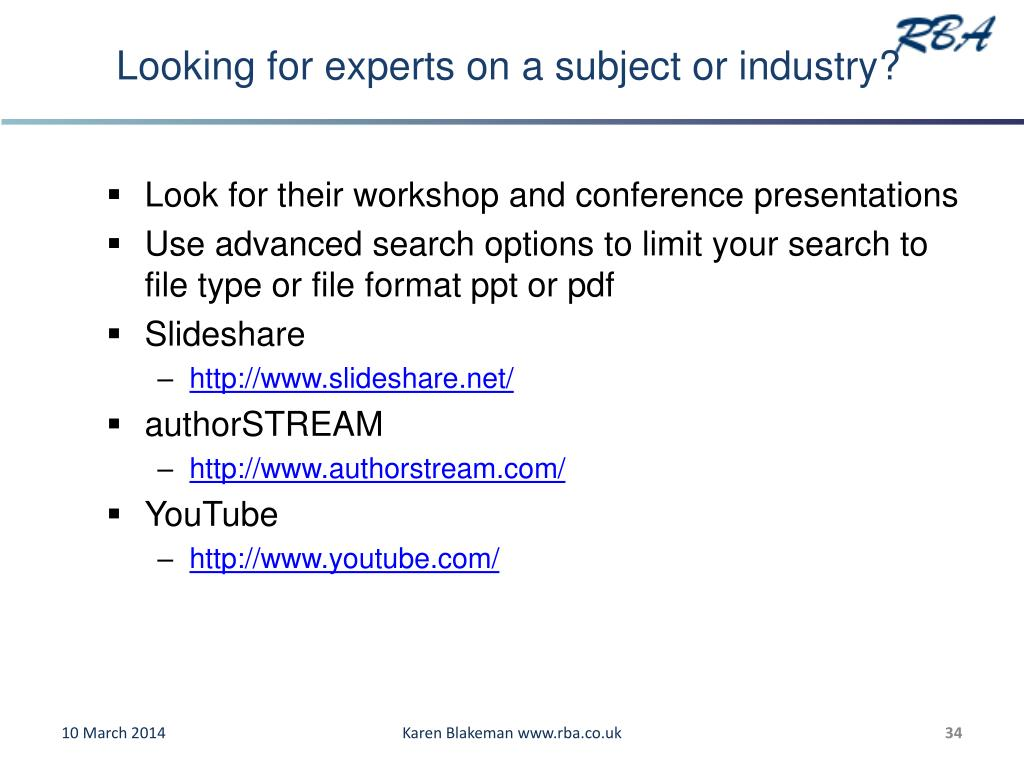 Looking for experts on a subject or industry?