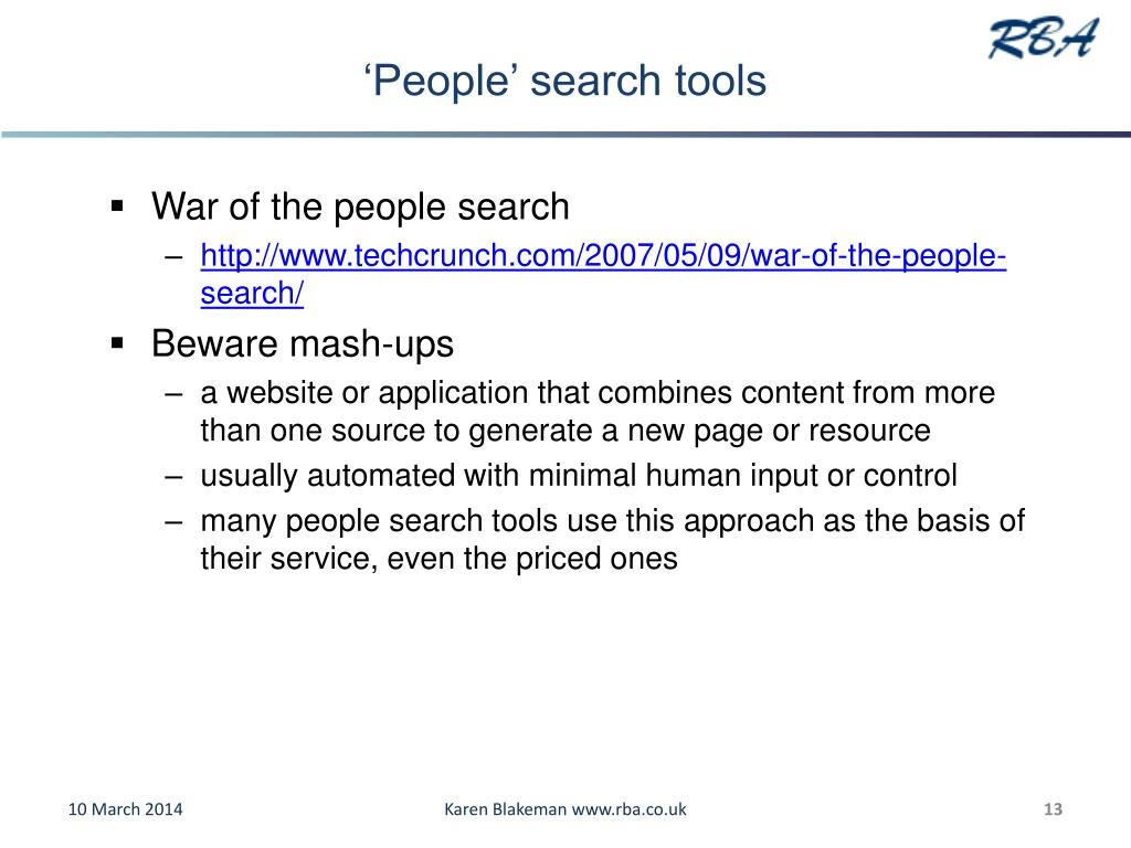 'People' search tools