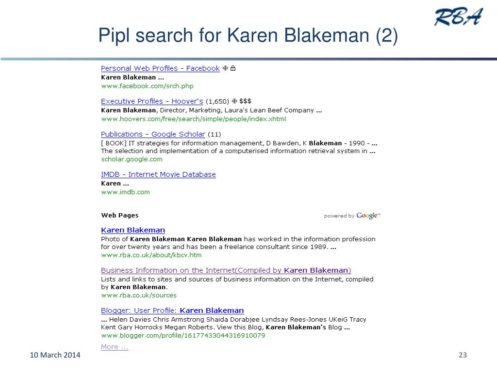 Pipl search for Karen Blakeman (2)