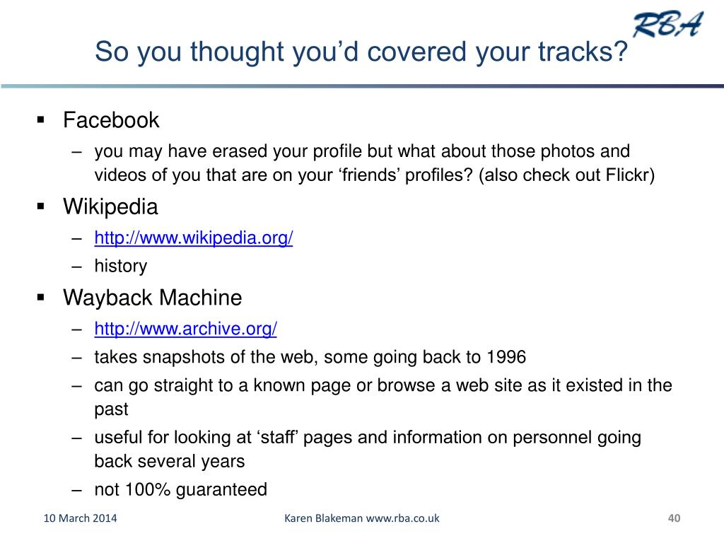 So you thought you'd covered your tracks?