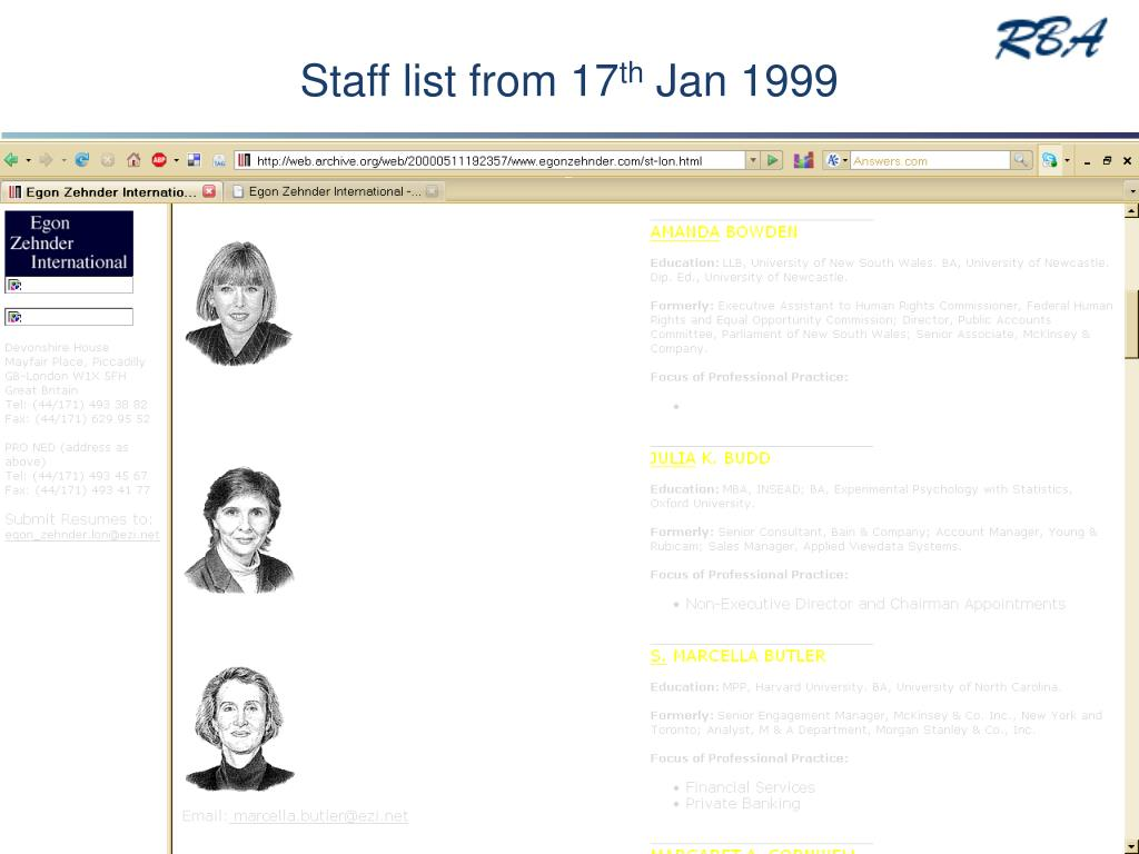 Staff list from 17