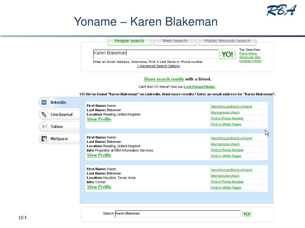 Yoname – Karen Blakeman