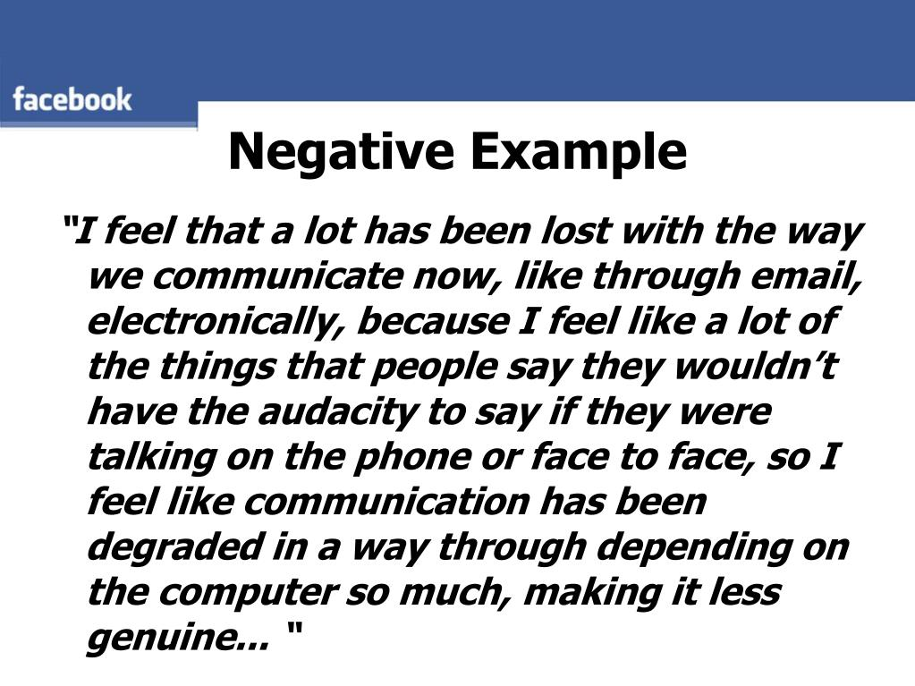 Negative Example
