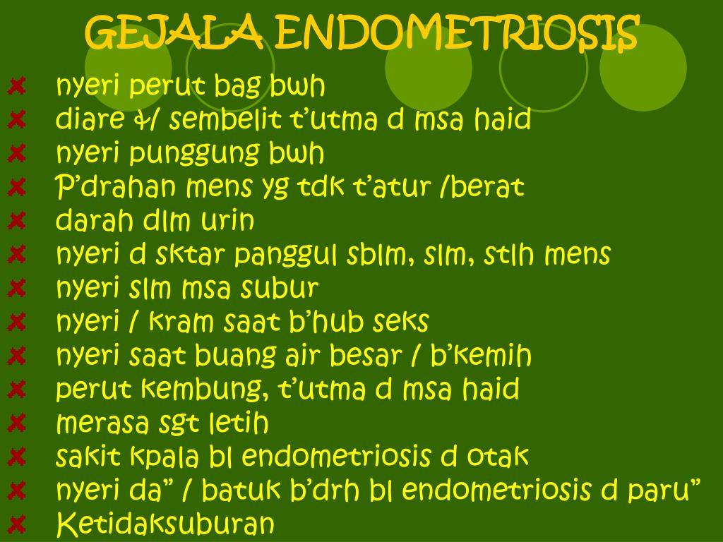GEJALA ENDOMETRIOSIS