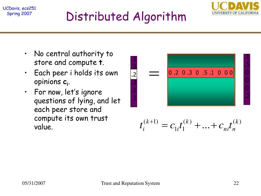 Distributed Algorithm
