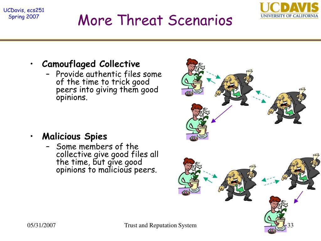 More Threat Scenarios