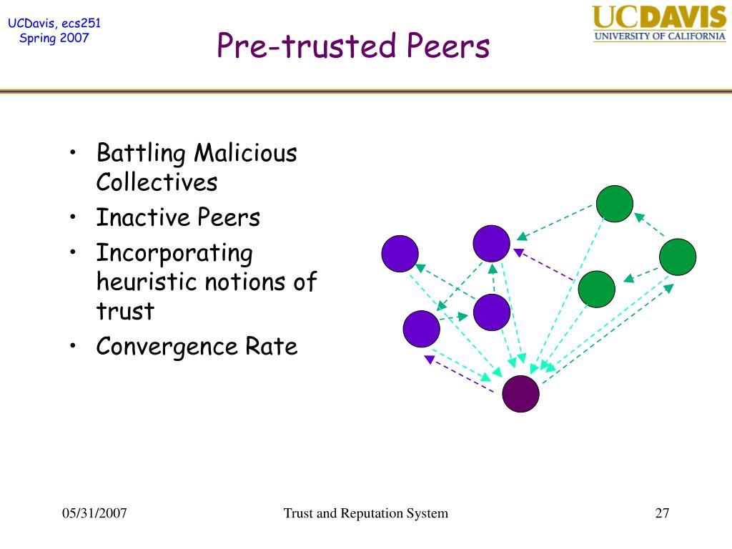 Pre-trusted Peers