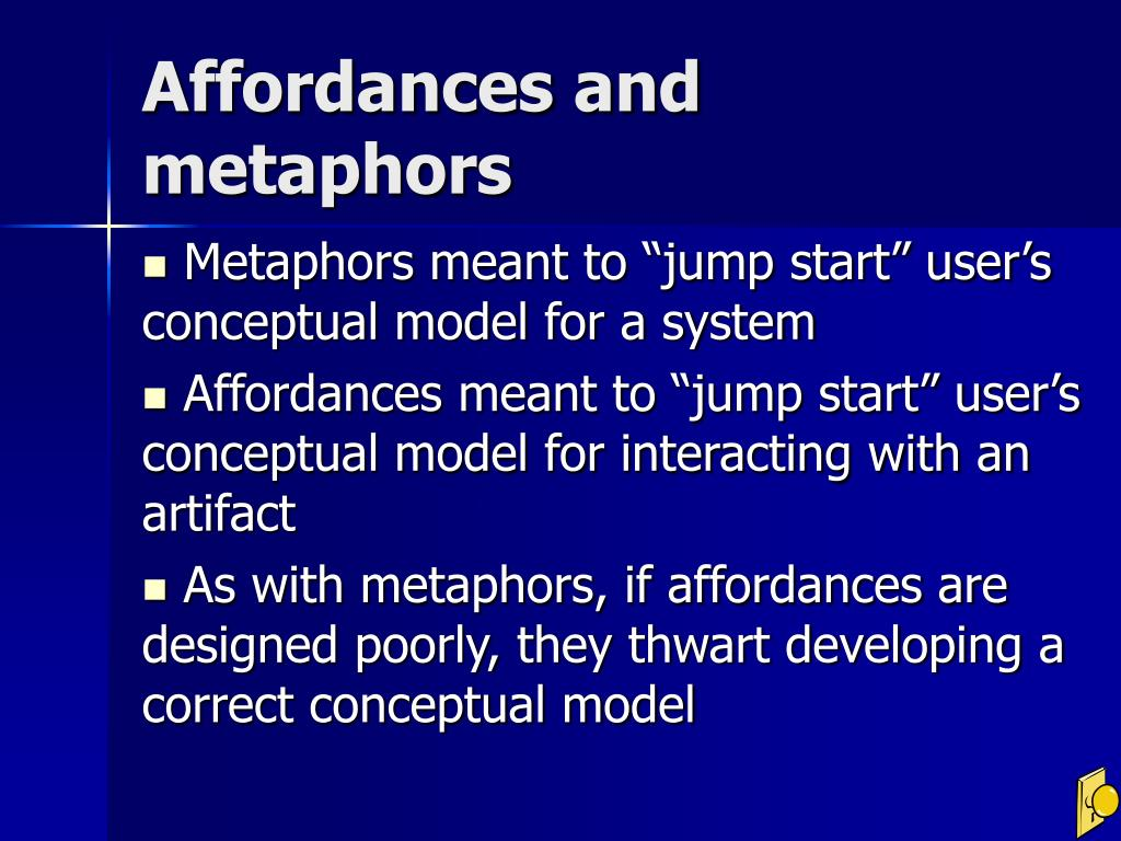 Affordances and metaphors