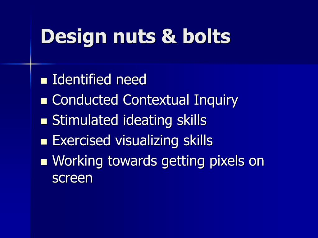 Design nuts & bolts