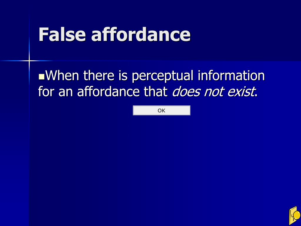 False affordance