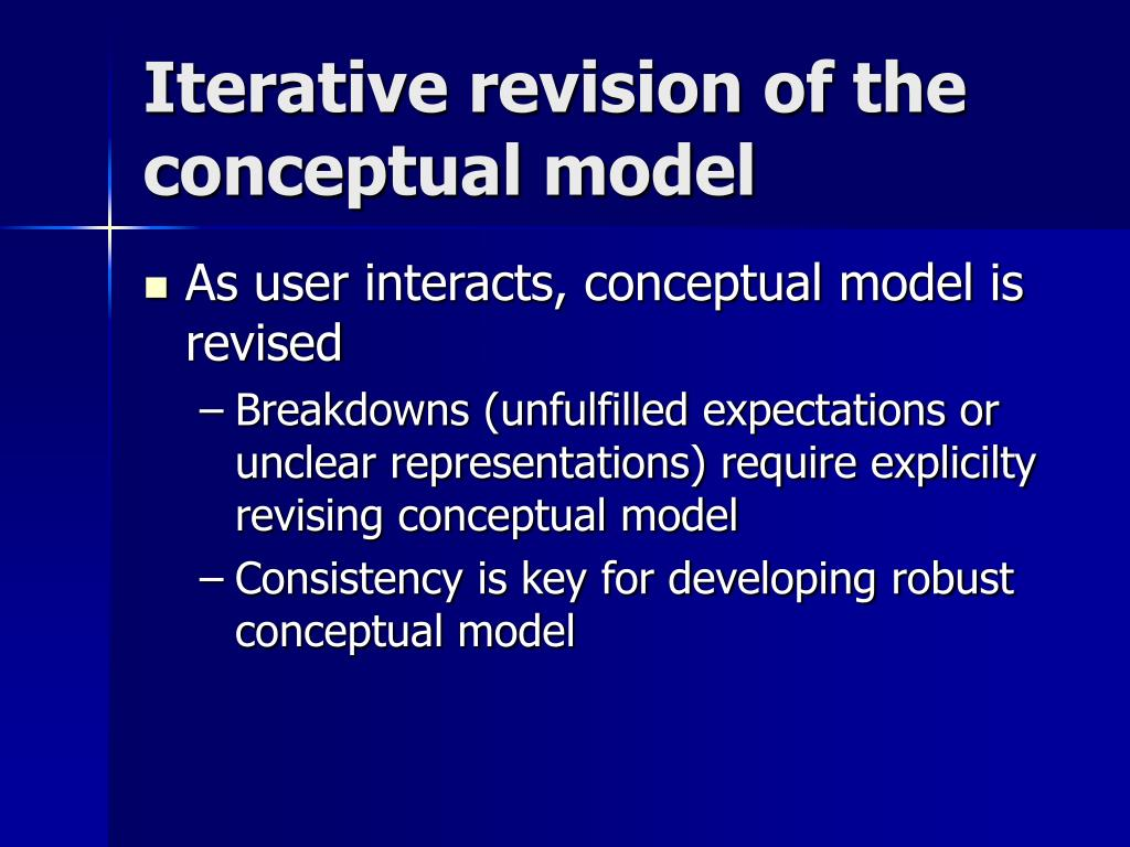 Iterative revision of the conceptual model