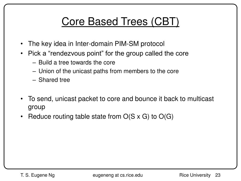 Core Based Trees (CBT)