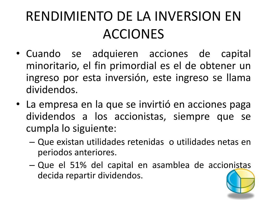 RENDIMIENTO DE LA INVERSION EN ACCIONES