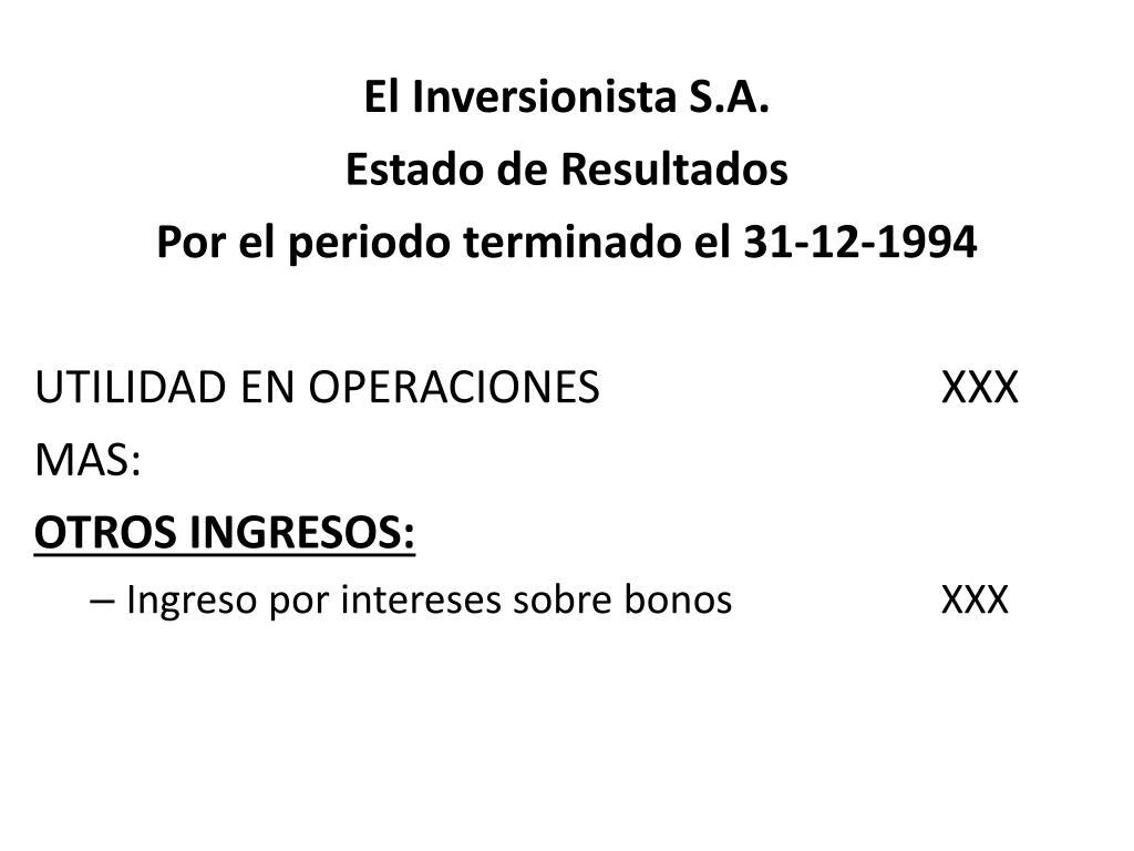 El Inversionista S.A.