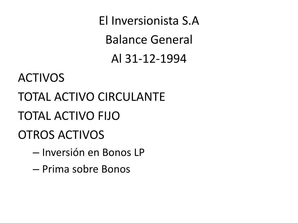 El Inversionista S.A